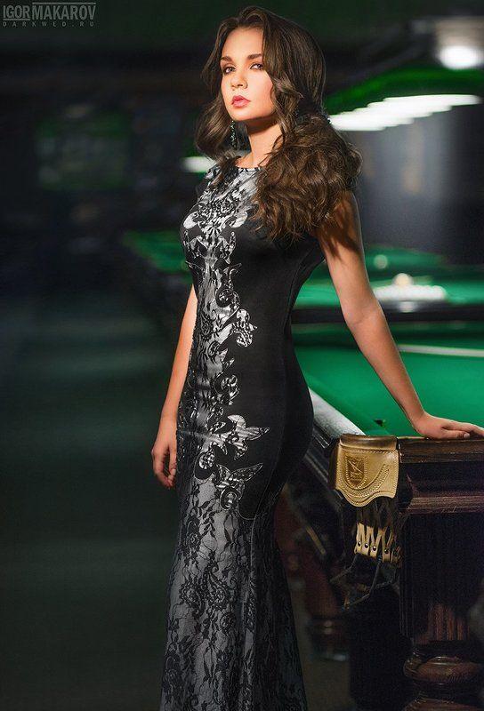 club dress girl billiards Clubphoto preview