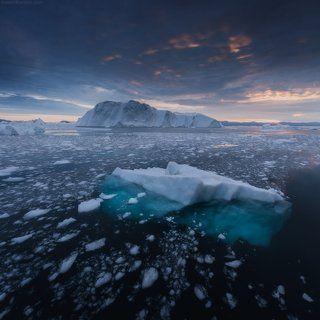 Холодный рассвет Гренландии