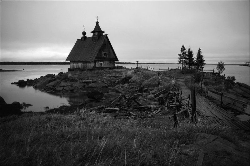 Черно-белый пейзажphoto preview