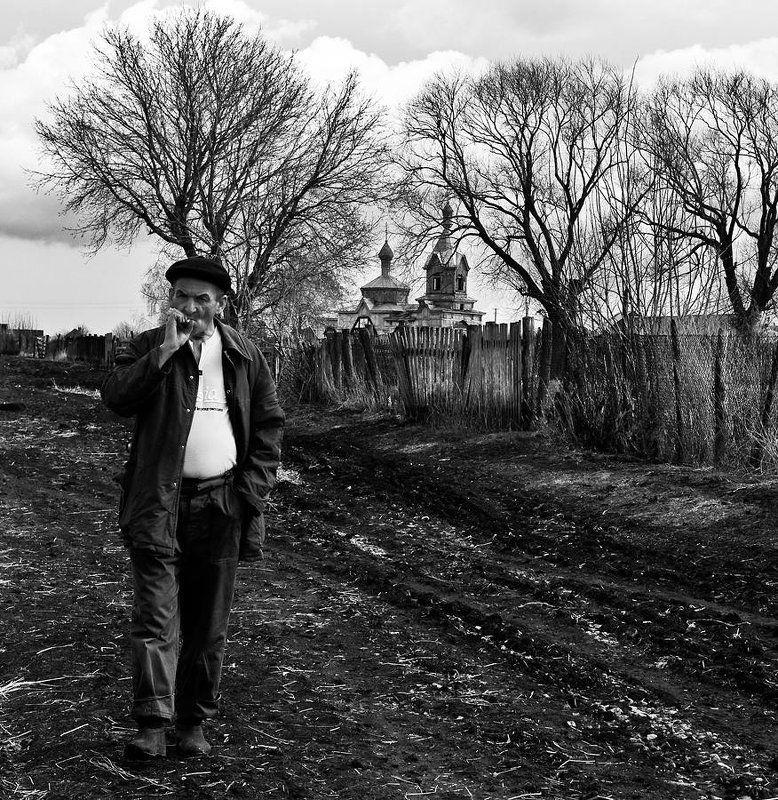 деревня бахта, мужик, илья шалафаев, shalapai-art photo preview