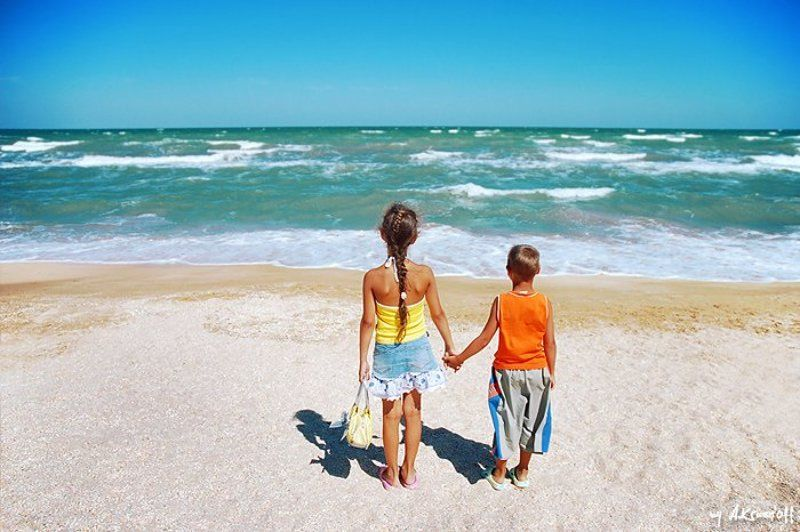 дети, море, песок, небо ты ещё не видел моря?...photo preview