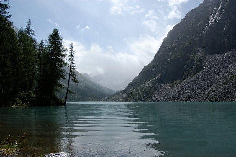 алтай, шавлинские озера, дождь, горы Уходящий дождьphoto preview