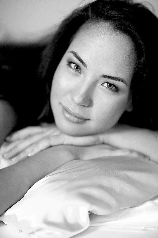 утренний, портрет, девушка, чб Утренний портретphoto preview