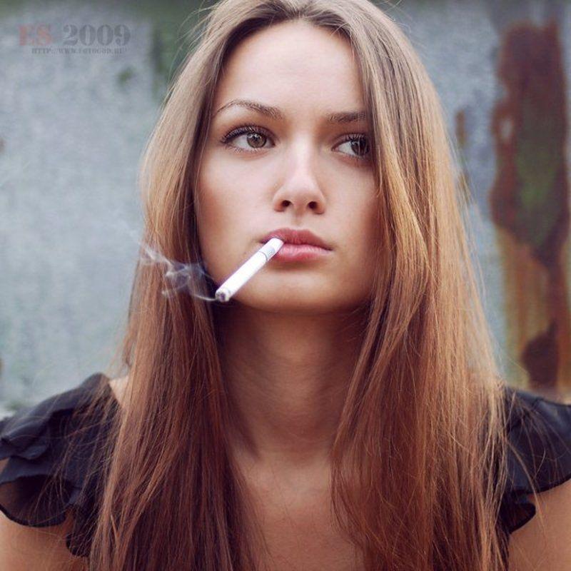 девушка, сигарета, курить вредно, дым, кент Юляphoto preview