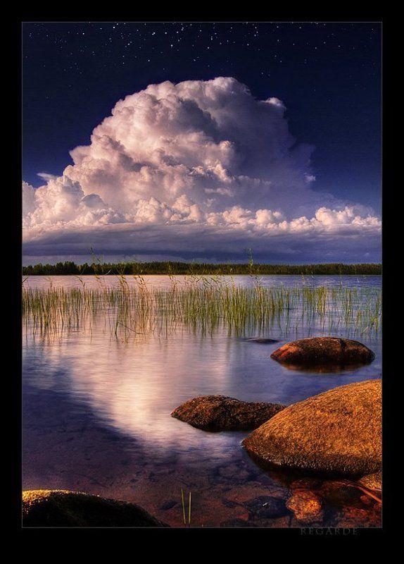 закат, облака, озеро nuagephoto preview
