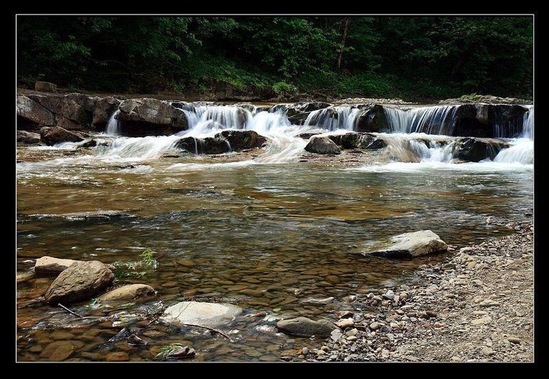 перекат, река, камни,лес Перекатphoto preview
