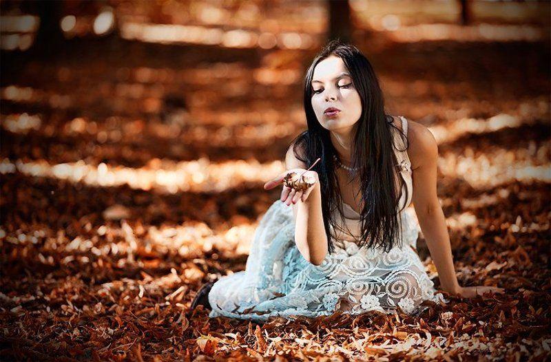 настя, портрет, девушки, природа Сказочный лесphoto preview