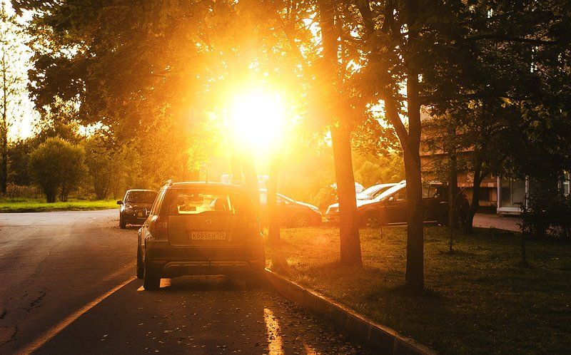 Car, Photo, Street, Sunset ***photo preview
