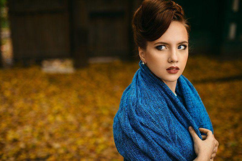 Осень, девушка, взгляд.photo preview
