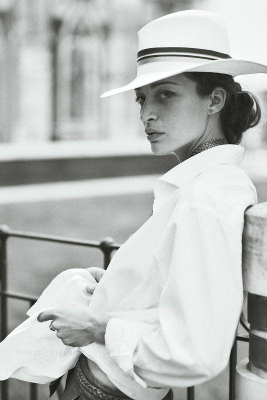 портрет, чб, лето, шляпа * * *photo preview