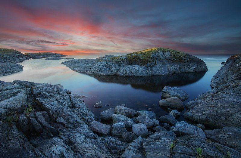 карелия, терву, ладога, шхеры, острова, пейзаж, восход,  ***photo preview
