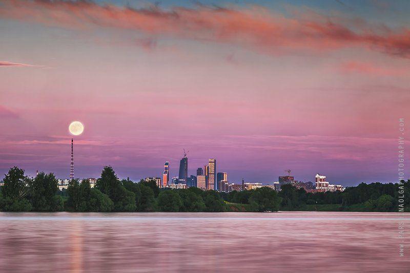 пейзаж, городской пейзаж, закат, город, москва, небо, дороги Москваphoto preview