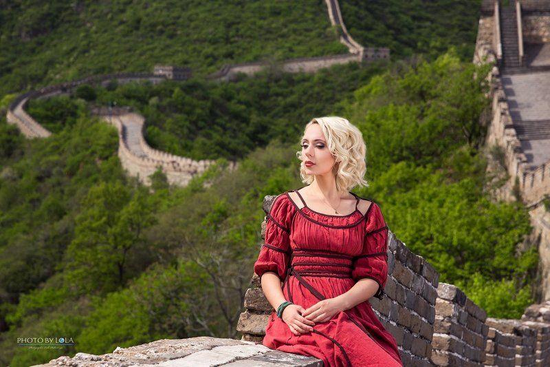 Пекин, Китай, певица, девушка, природа, портрет, Азия, фотосессия, ВКС, стена, китайская, великая, блондинка, красота photo preview