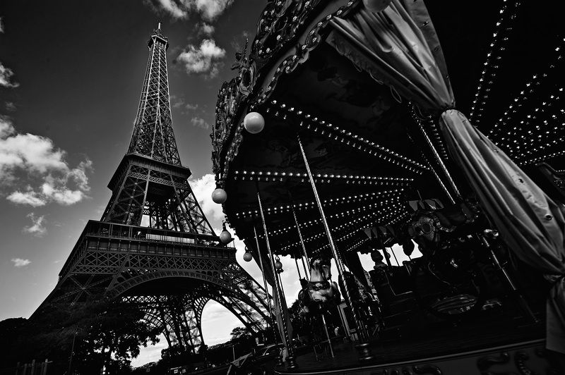париж, чернобелое, blackandwhite, эйфелевая  Парижскаяphoto preview
