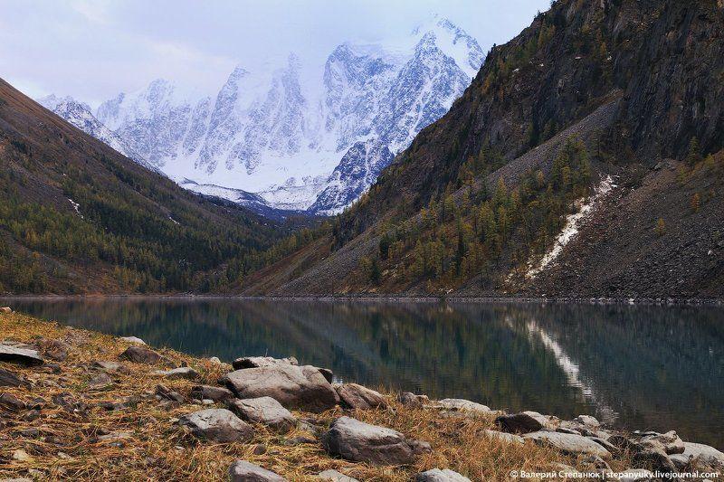 озеро, алтай, горы, зеркальная вода Шавлинское озеро в сентябреphoto preview
