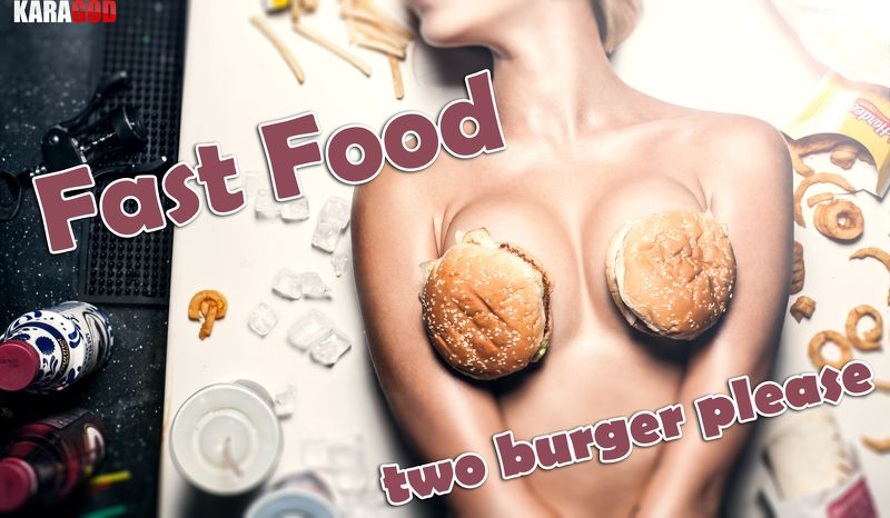 fast food, ню, девушка fast foodphoto preview