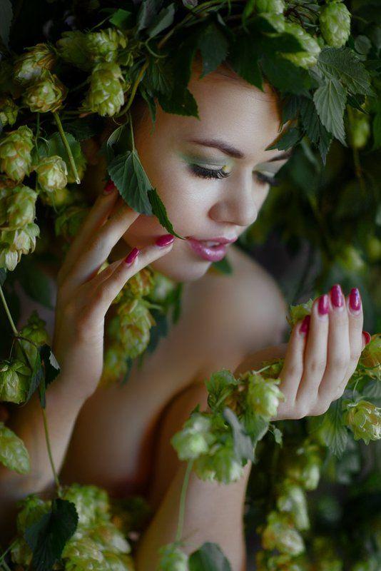 pivo, beer, hop, naked, beauty beer goddessphoto preview