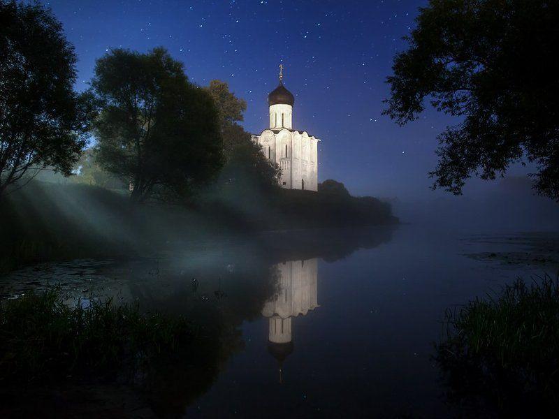 боголюбово, нерль, храм, церковь, покрова, отражение, луна, ночь И ночь без штор...photo preview