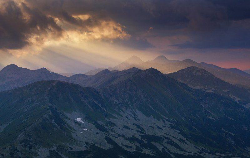 sunset, mountain, bulgaria, landscape, sun, forest, summer Pirin Mountainphoto preview