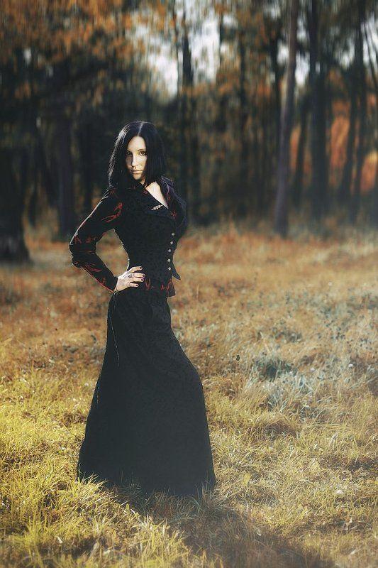 портрет, девушка, осень, фэшн, одежда, модель Autumn Witchphoto preview