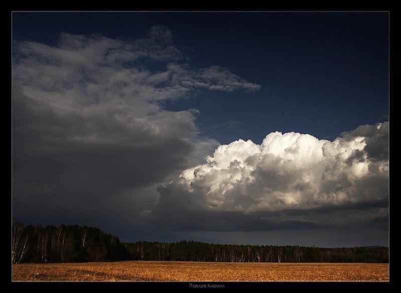 Дождь, поле, осень После дождяphoto preview