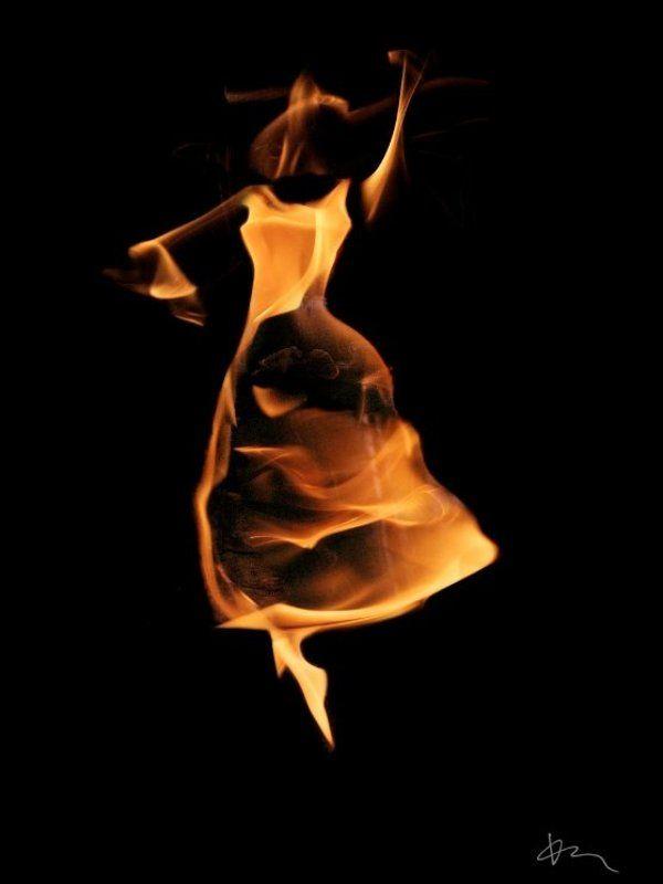 танец, веер, огонь Танец с вееромphoto preview