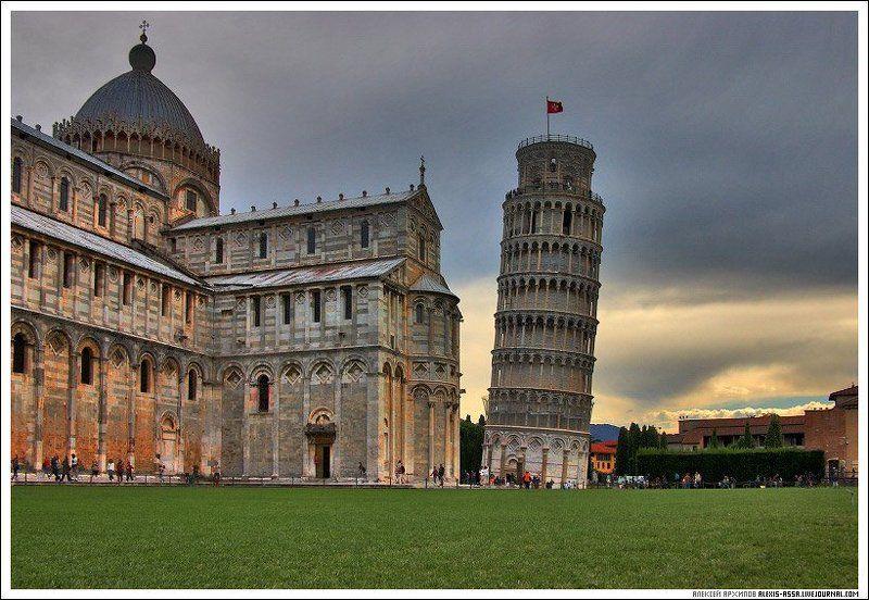 пизанская, башня, италия Тучи над Пизой.photo preview