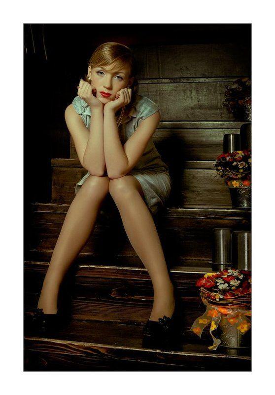 девушка, гламур, портрет Притомилась...photo preview