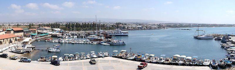 кипр пафос панорама набережная море корабли 1 мая Като Пафосphoto preview