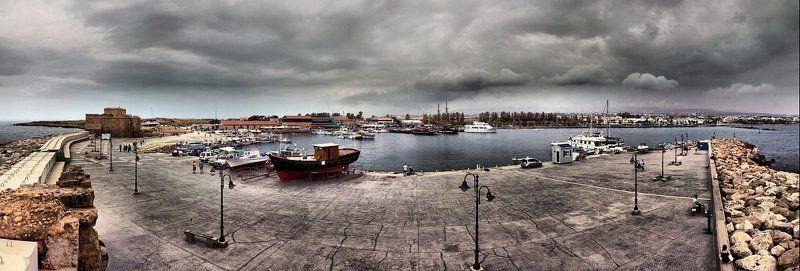 кипр пафос море панорама А погода не очень...photo preview