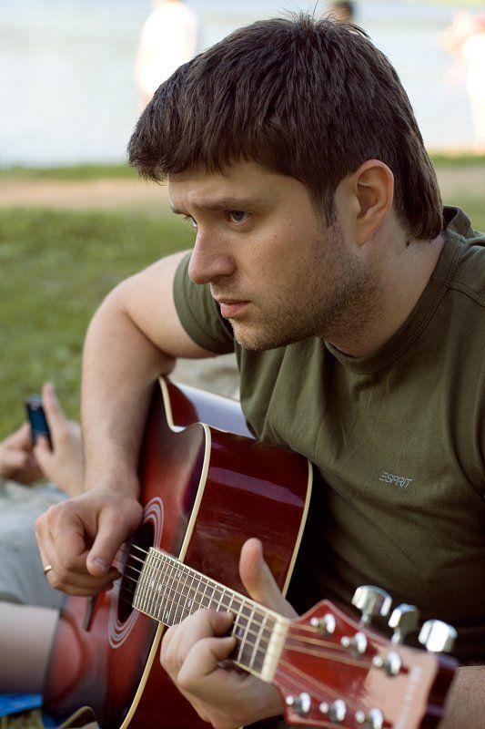 озеро, сенеж, пляж, гитара photo preview