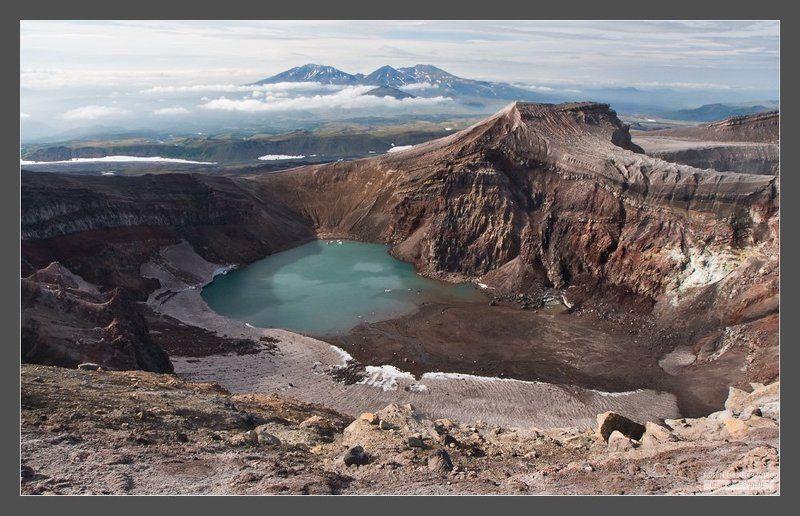 камчатка, вулкан, горелый, асача На вершине вулкана Горелыйphoto preview