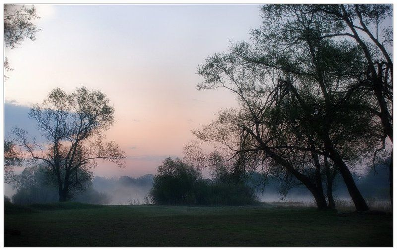 пейзаж, утро, туман, река В утренней дымке тумана...photo preview