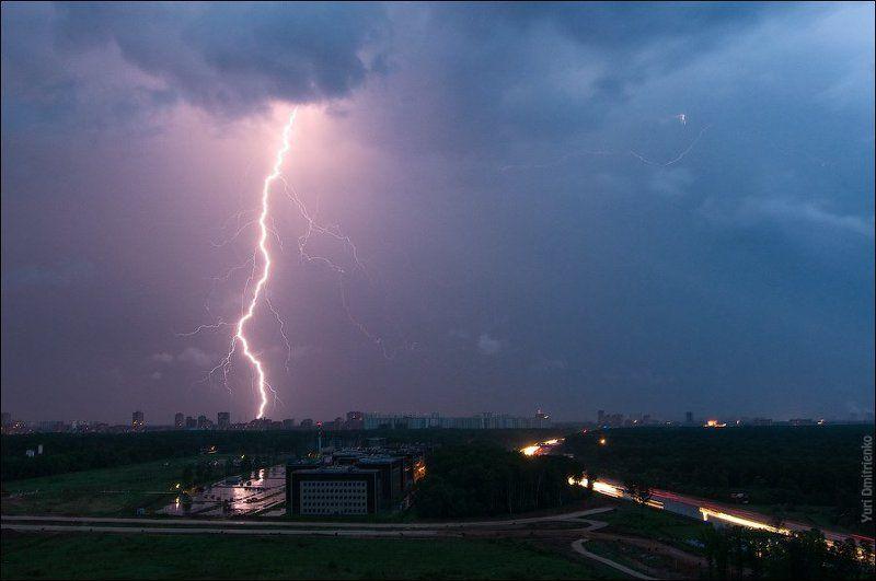 lihgtning, city, moscow, thunder, thunderbolt, гроза, молния, москва, dmitr Lightningphoto preview