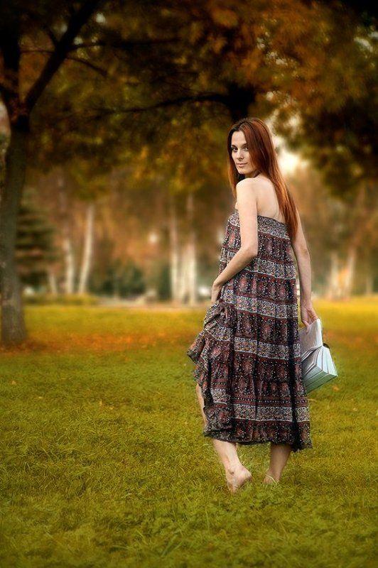 даша, портрет, девушка, природа, поле Осеньняя Элегияphoto preview