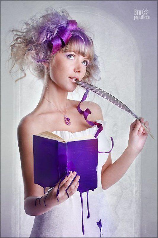 девушка, реклама, fashion Фиолетовые мысли.photo preview