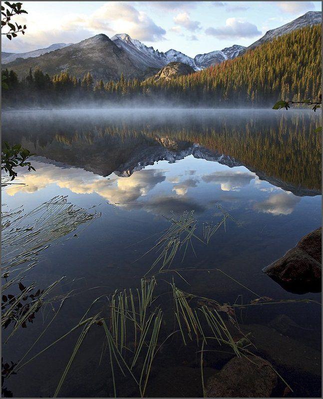 Туман на медвежьем озере.photo preview
