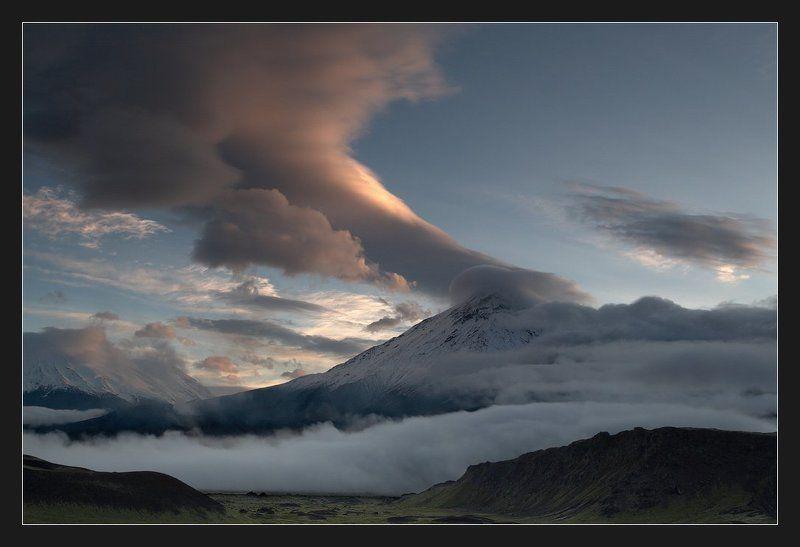 камчатка, ключевская группа вулканов Ватный пейзажphoto preview