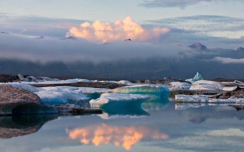 исландия Дрейфующий во сне ледphoto preview