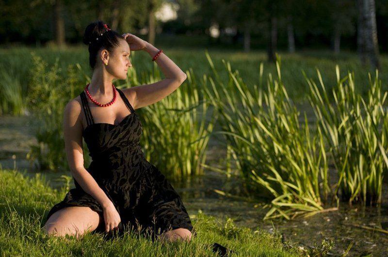 закат,девушка,свет,тень,природа,зелень,зелень, Уходящая страсть закатаphoto preview