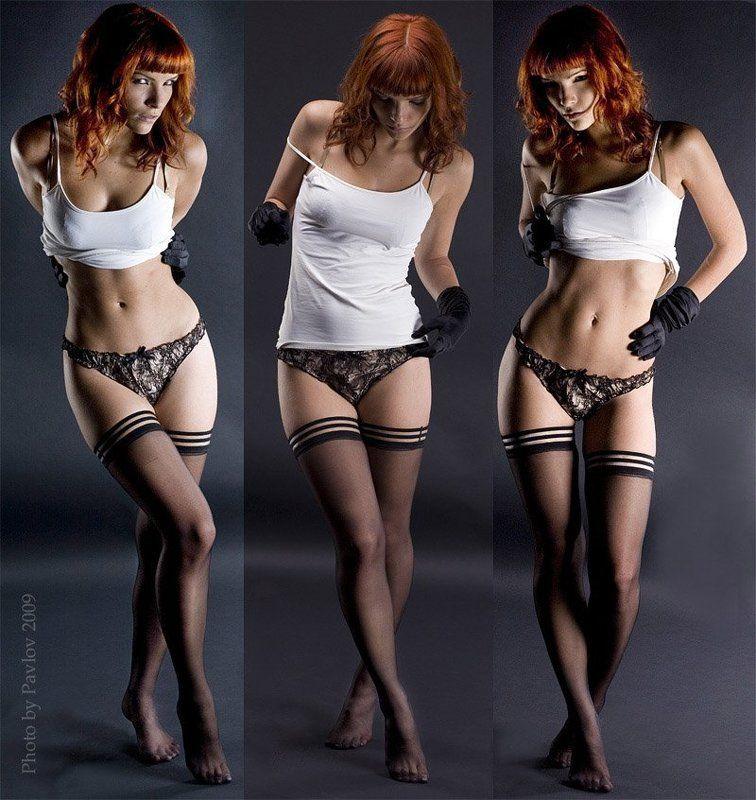 девушка, красота, портрет, студия,klodi Этюд в белье с черными перчатками ...photo preview