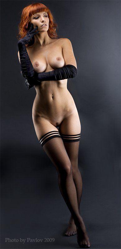 девушка, красота, nu, студия,klodi Обнаженная в перчатках ...photo preview
