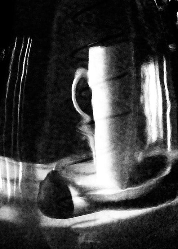 чашка, чайник, конфета, утро, отражение утреннее отражениеphoto preview