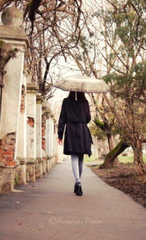 зонт,девушка,непогода,каблуки Никольphoto preview
