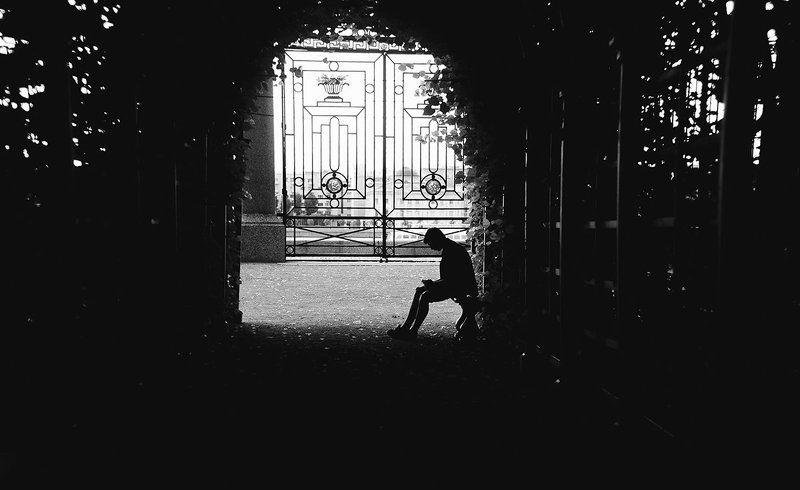 black, black & white, city, people, saint-petersburg, summer ***photo preview