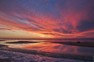 Октябрьский закат на Рыбинском водохранилище