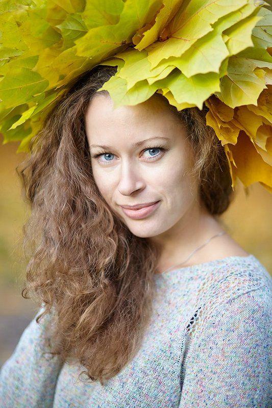 Девушка Осень Портрет Осеньphoto preview
