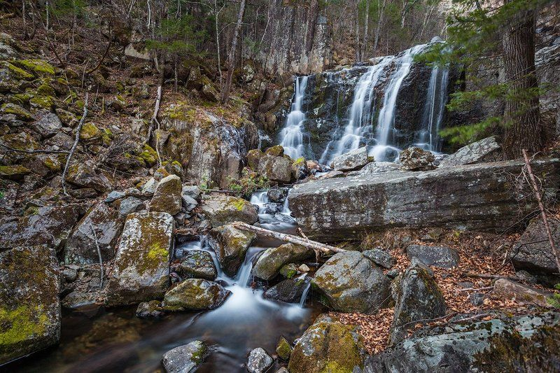 Весна, Водопад, Природа, Россия Еломовские водопады. Приморский край.photo preview