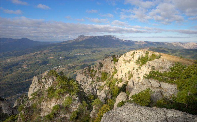 Горы, Крым, Небо, Природа, Свет, Солнце, Утро Вид на Чатыр-Даг 2photo preview