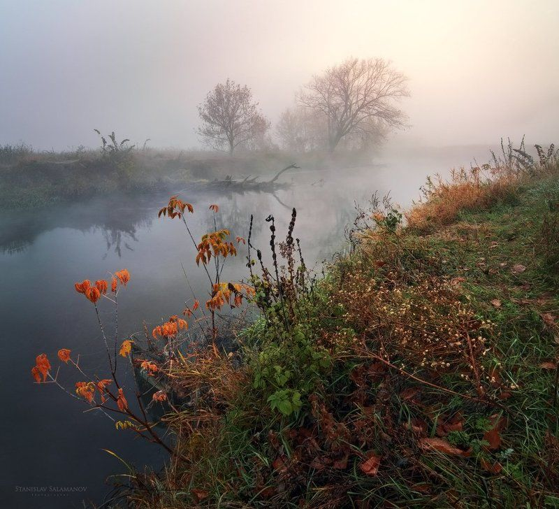 утро, туман, осень, рассвет, река, волшебство, таинство Магия осеннего утраphoto preview